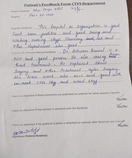 patients feedback